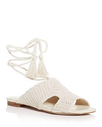 Joie - Women's Crochet Ankle Tie Sandals