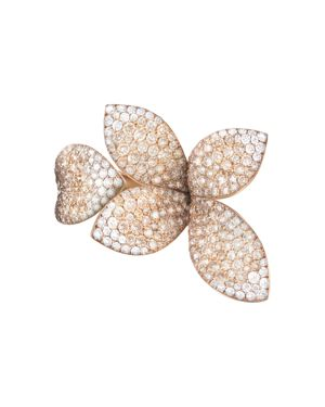 Pasquale Bruni 18K Rose Gold Secret Garden Four Petal Pave Diamond Ring