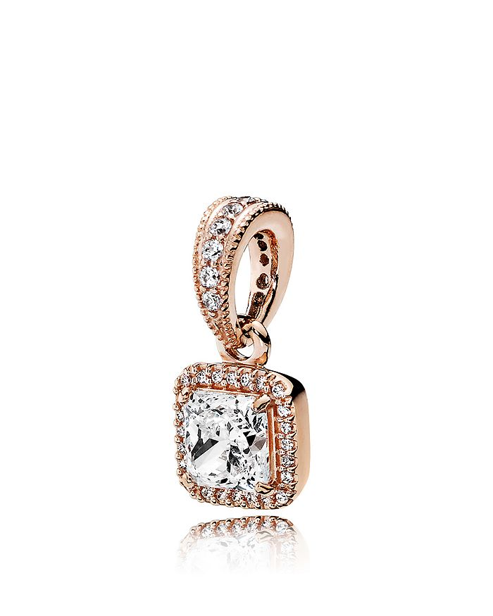PANDORA - Pendant - 14K Rose Gold, Sterling Silver & Cubic Zirconia Timeless Elegance