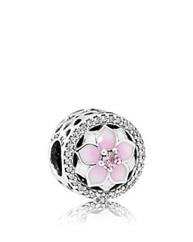 393f8d67e Pandora - Sterling Silver & Enamel Magnolia Bloom Charm