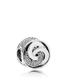 PANDORA - Sterling Silver & 14K Gold Interlinked Circles Charm