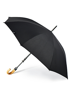 Shedrain Stratus Chrome Stick with Wood Crook Handle Umbrella