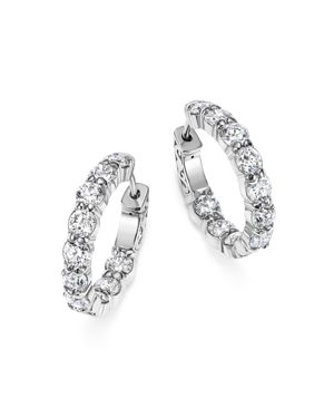 Diamond Inside Out Hoop Earrings in 14K White Gold, 4.0 ct. t.w. - 100% Exclusive