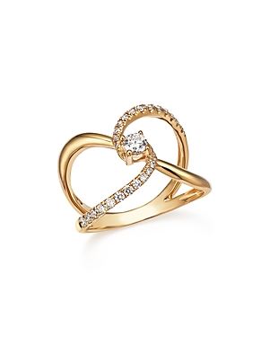 Diamond Crossover Ring in 14K Yellow Gold, .50 ct. t.w. - 100% Exclusive