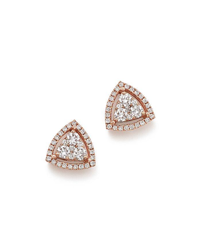 Bloomingdale's - Diamond Triangle Stud Earrings in 14K Rose Gold, .65 ct. t.w. - 100% Exclusive