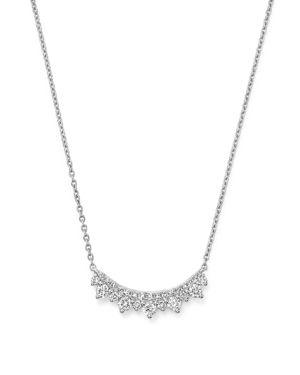 Kc Designs 14K White Gold Diamond Curve Necklace, 16