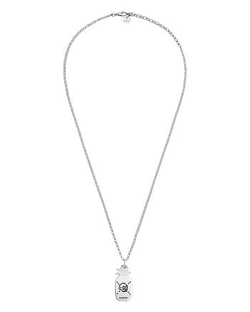 """Gucci - Sterling Silver  Ghost Pineapple Pendant Necklace, 17.7"""""""
