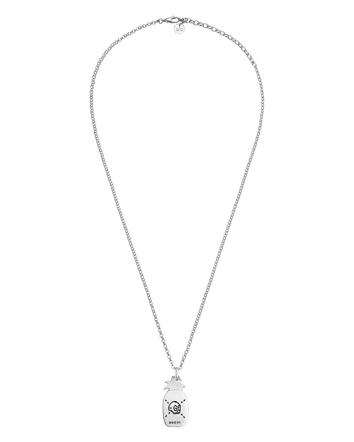 bfd8d4d80 Gucci Sterling Silver Gucci Ghost Pineapple Pendant Necklace, 17.7 ...
