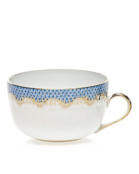 Herend - Fishscale Light Blue Canton Cup