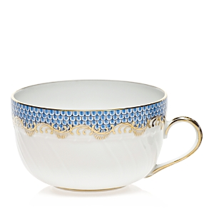 Herend Fishscale Light Blue Canton Cup