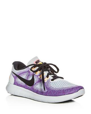 c1841e489b2 Nike Women S Free Run 2017 Running Sneakers From Finish Line In Off White  Black