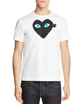 e3d8602b1a89 Comme Des Garcons PLAY - Black Heart Blue-Eye Tee ...