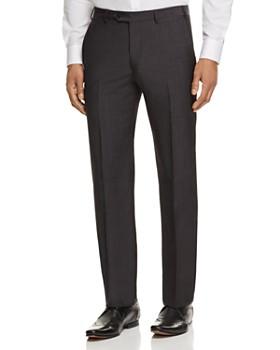 Armani Collezioni - Crosshatch Print Regular Fit Dress Pants