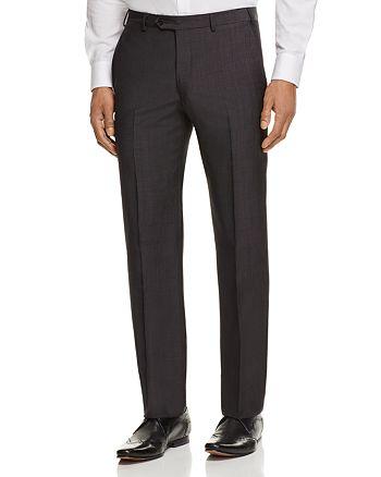 Armani - Crosshatch Print Regular Fit Dress Pants