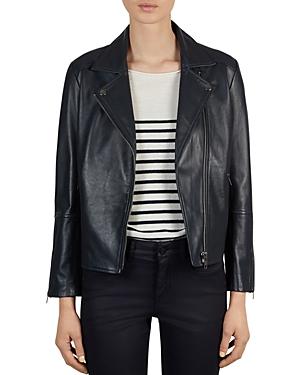 Gerard Darel Valentin Leather Moto Jacket