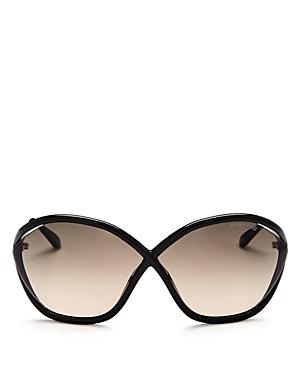Tom Ford Bella Oversized Round Sunglasses, 75mm