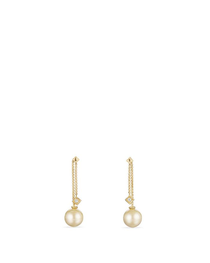 David Yurman - 18K Gold Solari Ear Jackets with Diamonds & Pearl