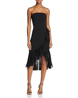 Carmen Marc Valvo Infusion Strapless Ruffle Dress