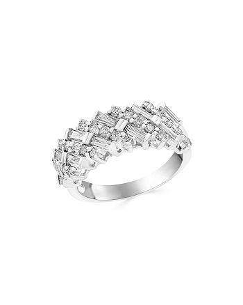 Bloomingdale's - Diamond Round and Baguette Band in 14K White Gold, 1.25 ct. t.w. - 100% Exclusive