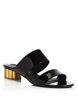 Salvatore Ferragamo - Women's Belluno Floral Heel Slide Sandals