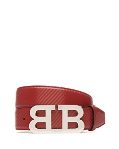 Bally Mirror B Buckle Carbon Leather Belt - Bloomingdale's_0