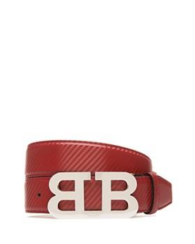 Bally - Mirror B Buckle Carbon Leather Belt