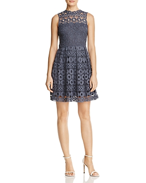 Aqua Lace Fit-And-Flare Dress - 100% Exclusive