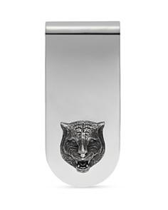 Gucci Sterling Silver Feline Head Motif Money Clip - Bloomingdale's_0