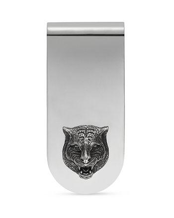 Gucci - Sterling Silver Feline Head Motif Money Clip