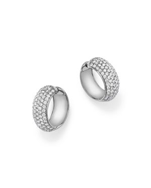 Diamond Huggie Hoop Earrings in 14K White Gold, 3.0 ct. t.w. - 100% Exclusive
