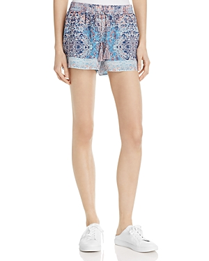 Joie Lindee Printed Silk Shorts
