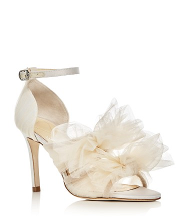 $Isa Tapia Gigi Tulle Bow Satin High Heel Sandals - Bloomingdale's