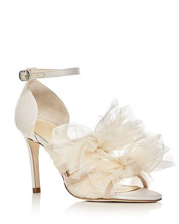 Isa Tapia - Gigi Tulle Bow Satin High-Heel Sandals