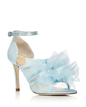 Isa Tapia Gigi Tulle Bow Satin High Heel Sandals