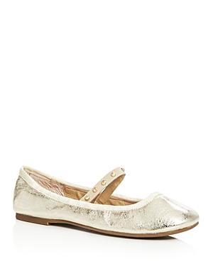 Joie Haddie Metallic Mary Jane Ballet Flats