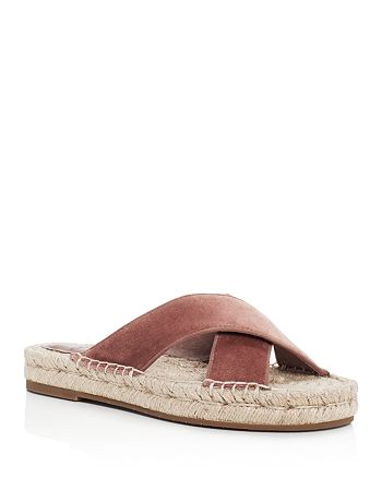 Joie - Women's Ianna Velvet Crisscross Espadrille Slide Sandals