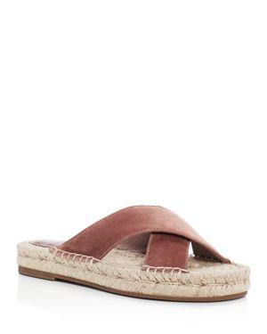 Joie Ianna Velvet Crisscross Espadrille Slide Sandals