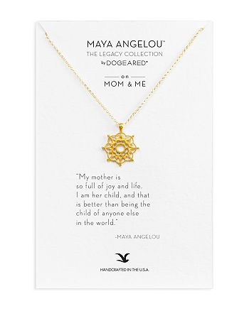"Dogeared - Maya Angelou Legacy Collection ""On Mom & Me"" Necklace, 18"""