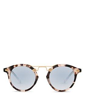 Krewe - Unisex St. Louis 24K Round Sunglasses, 46mm