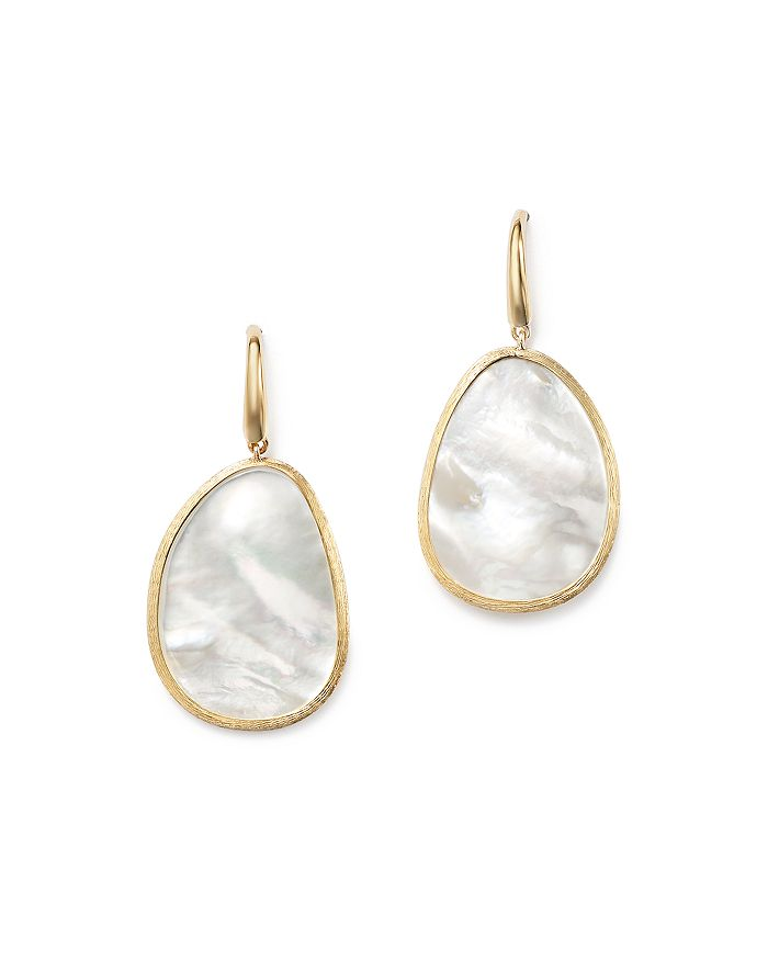 Marco Bicego 18K Yellow Gold Lunaria Mother-Of-Pearl Drop Earrings In White/Gold