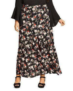 City Chic Free Spirit Floral Maxi Skirt