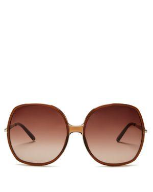 Chloe Oversized Square Nate Sunglasses, 62mm