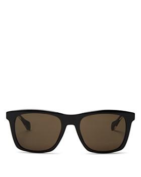 HUGO - Men's Wood Temple Square Sunglasses, 50mm