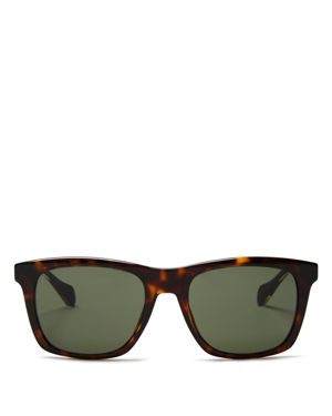 Hugo Boss Wood Temple Square Sunglasses, 50mm