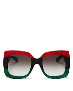 Gucci - Women's Urban Web Block Oversized Square Sunglasses, 51mm