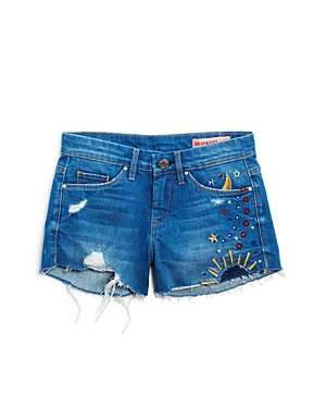 Blanknyc Girls' Embroidered Jean Shorts - Big Kid