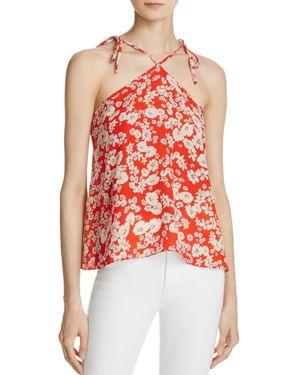 Rebecca Taylor Cherry Blossom Silk Top