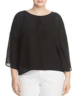 B Collection by Bobeau Curvy Flare Sleeve Blouse