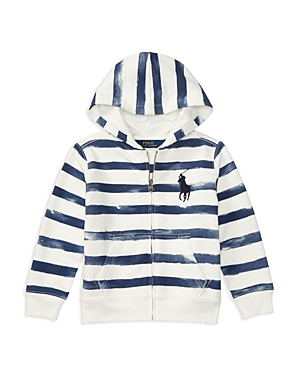 Ralph Lauren Childrenswear Boys' Terry Striped Hoodie - Little Kid