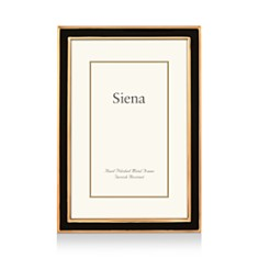 "Siena - Black Enamel with Gold Frame, 4"" x 6"""